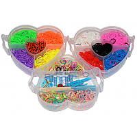 """Набор для плетения Rainbow Loom Bands """"Сердце"""" 2600 резиночек."""