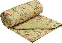 """Демисезонное  одеяло """"English style"""" из чесаной овечьей шерсти, двуспальное."""