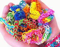 Резиночки для плетения браслетов - 1кг. Цвета в ассортименте.