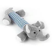 Слон плюшевый мягкая игрушка для собак 25 см