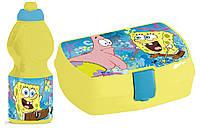 Набор ланч-бокс и спортивная бутылочка Sponge Bob (Губка Боб)