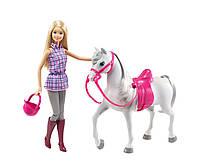 Набор Барби в клетчатой рубашке на лошади Barbie