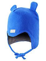 Детская флисова шапка для мальчика  LASSIE 718690 - 6510. Размер 50-52.