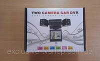 Видеорегистратор с двумя камерами Two Сamera Сar Dvr