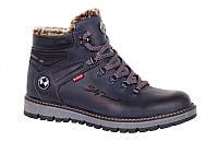 Мужские зимние ботинки с натуральной кожи Bumer 76