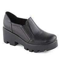 Женские кожаные ботинки на тракторной подошве