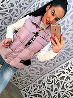 Женский стильный стеганный жилет с утеплителем (3 цвета)