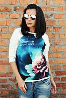Футболка Березка beauti, футболки оптом, женская футболка недорого, дропшиппинг  поставщик