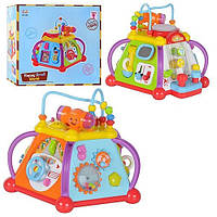 Развивающая музыкальная игрушка для детей Мультибокс 806, 5 граней, лабиринт, звук и свет