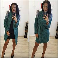 Женское пальто - трансформер с мехом (2 цвета)