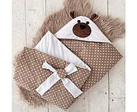 MagBaby Плед для новорожденного на выписку Мишка белый