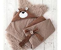 MagBaby Плед для новорожденного на выписку Мишка коричневый