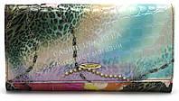 Стильный яркий кожаный женский кошелек H.VERDE art.2551-E01