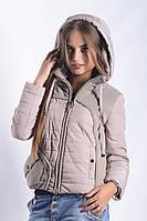 Женская куртка К-011 Бежевый
