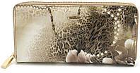 Модный кожаный лаковый женский кошелек с цветочным принтом H.VERDE art. 2480-E02