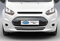 Накладки на бампер и решётку Ford Connect 2014+ (4 шт.)