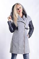 Женское Пальто П-021 Donna Bacconi Шерсть Серый