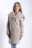 Женское Пальто П-021 Donna Bacconi Твид Бежевый