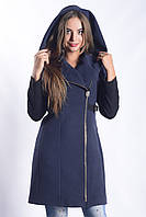 Женское Пальто П-021 Donna Bacconi Кашемир Синий