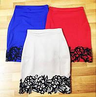 Короткая юбка с перфорацией