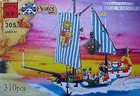 Конструктор Brick (Брик) Пиратский корабль 305, 310дет