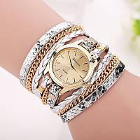 Шикарные часы-браслет.  Серебряные. 8 цветов (Код 02)