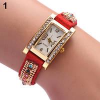 Шикарные часы-браслет.  Красные. 9 цветов (Код 03)