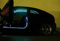 Подсветка двери неоновым проводом