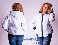 Модная весенняя женская куртка большого размера 52-58 рр