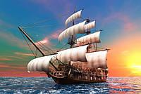 """Алмазная мозаика """"Корабль"""", картина стразами 40*30см"""