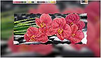 """Схема для вышивки бисером на подрамнике (холст) """"Красная орхидея"""""""