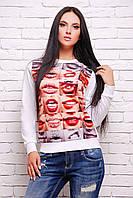 Молодежный модный свитшот с ярким принтом р.42,44,46