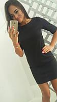 Женское модное классическое платье черного цвета