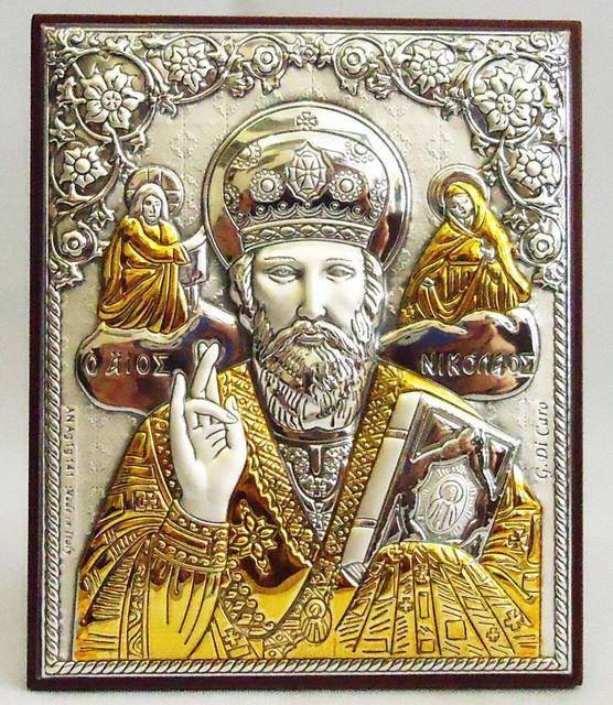 Иконы с серебром