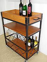 Передвижной сервировочный столик для вина - 2.