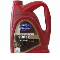 Моторное масло ВАМП Super 15w40 5 л 4,38 кг.