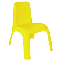 Стул детский пластиковый темно-желтый