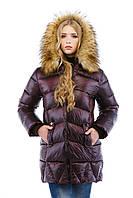 Куртка зимняя женская модная длинная