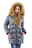 Длинная модная женская зимняя куртка