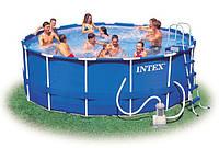 Каркасный бассейн Intex 56946 Интекс 457 х 122 см + насос-фильтр, набор для чистки, скиммер киев