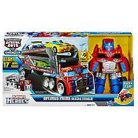 Оптимус Прайм спасательный грузовик, Боты Спасатели - Optimus Prime Rescue Trailer, Eazy2Do, Hasbro