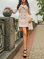 """Необычное женское платье """"Бежевая Табиру"""" с удлиненной спинкой"""