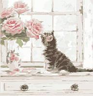 """Картина по номерам/Без коробки. """"Запах Роз"""" 30х40 см. Идейка. КНО2465."""
