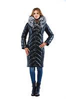 Длинное женское зимнее пальто