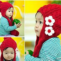 Шапка, шапочка демисезонная, красная для девочек, р. 2-10 лет