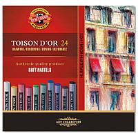 Мел пастель TOISON D'OR, Koh-i-noor, 24 цв., 8514