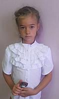 """Очень красивая блузка для девочки """"С рюшами и воротником стойка"""""""