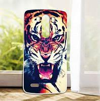 Силиконовый чехол накладка для LG G3 Optimus D855 D857 с рисунком Тигр