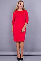 Арина. Платье больших размеров. Красный., фото 1