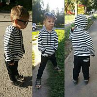 """Модный, осенний костюмчик для девочек и мальчиков """"Штаны + полосатый балахончик"""""""